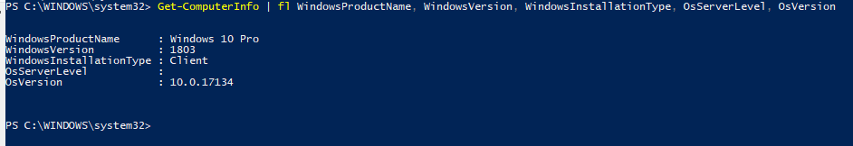 Get-ComputerInfo powershell