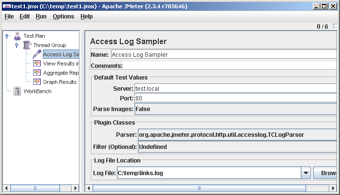 access log sampler